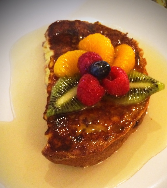This photo doesn't even do the French Toast justice!