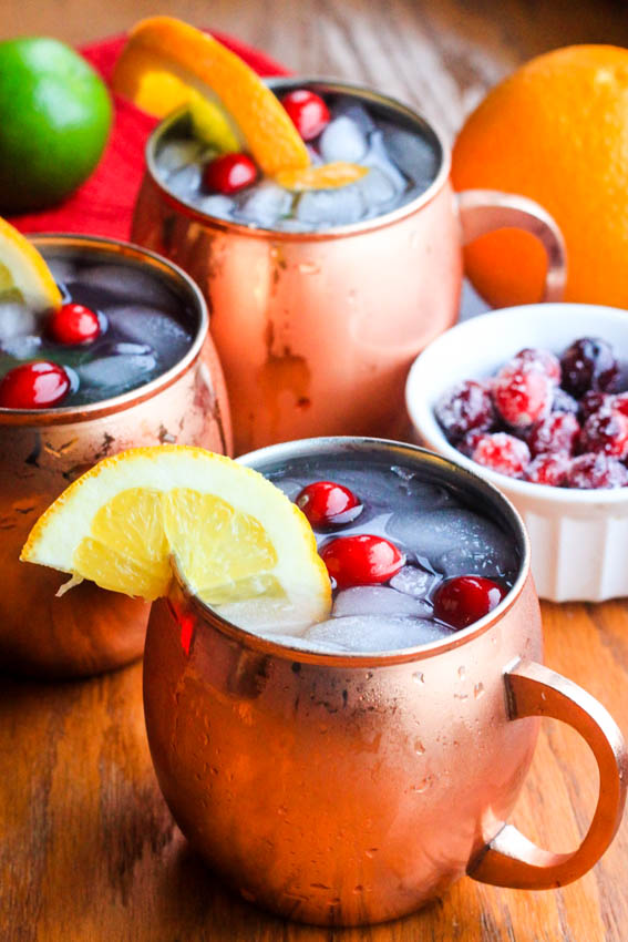 Delicious and festive take on Moscow Mules!